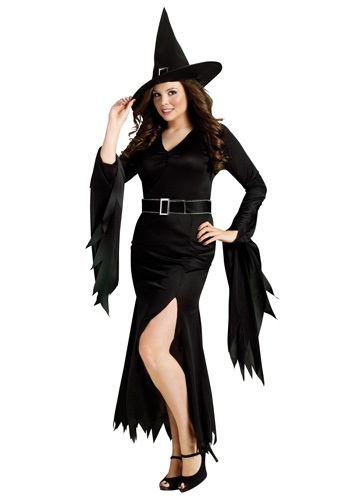 Click Here to buy Plus Gothic Witch Costume from HalloweenCostumes, CDN Funds & Shipping