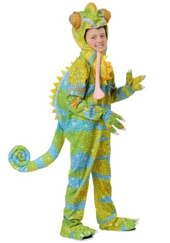 Click Here to buy Realistic Chameleon Costume for a Kids from HalloweenCostumes, CDN Funds & Shipping