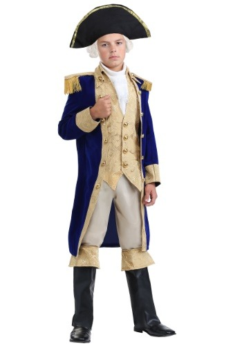 Click Here to buy George Washington Boys Costume | Historical Figure Costume from HalloweenCostumes, CDN Funds & Shipping