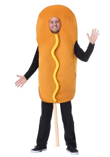 Click Here to buy Corndog Costume for Adults from HalloweenCostumes, CDN Funds & Shipping