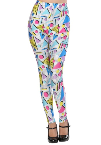 Womens 80s Party Girl Leggings