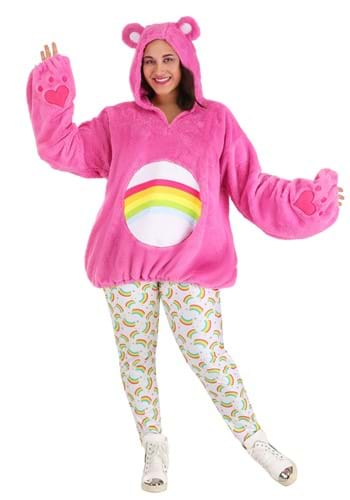 Click Here to buy Care Bears Deluxe Cheer Bear Costume for Plus Size Women from HalloweenCostumes, CDN Funds & Shipping