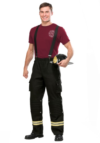 Fire Captain Plus Size Costume for Men