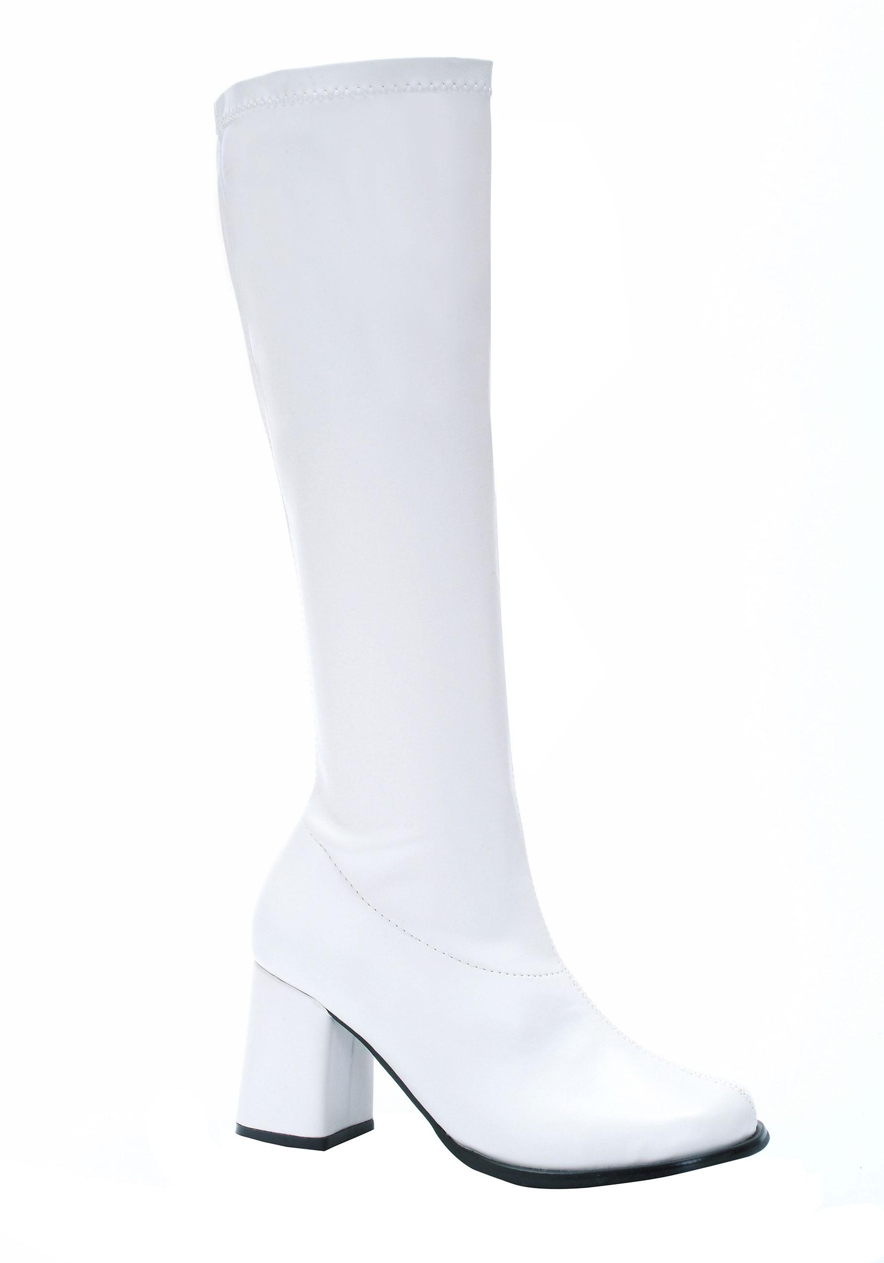 Women's White Gogo Costume Boots