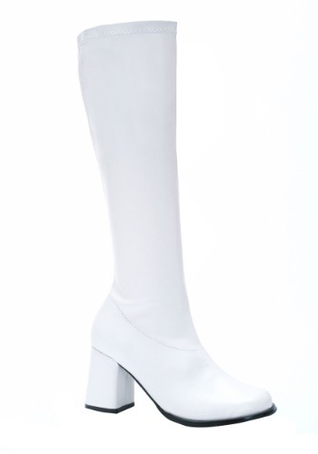 Click Here to buy Womens White Gogo Costume Boots from HalloweenCostumes, CDN Funds & Shipping
