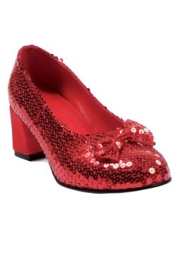 Women's Red Sequined Shoes