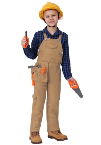 Click Here to buy Construction Worker Costume for a Kids from HalloweenCostumes, CDN Funds & Shipping