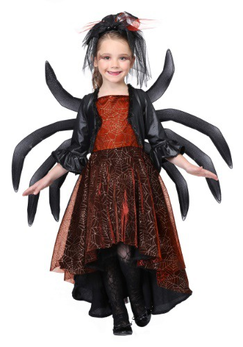 Click Here to buy Spooky Widow Dress Girls Costume from HalloweenCostumes, CDN Funds & Shipping