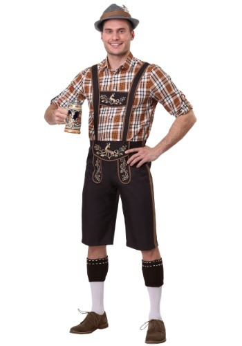 Men's Plus Size Oktoberfest Stud Costume