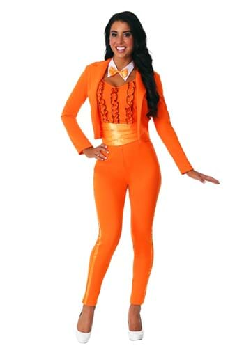 Click Here to buy Adult Female Orange Tuxedo Costume from HalloweenCostumes, CDN Funds & Shipping