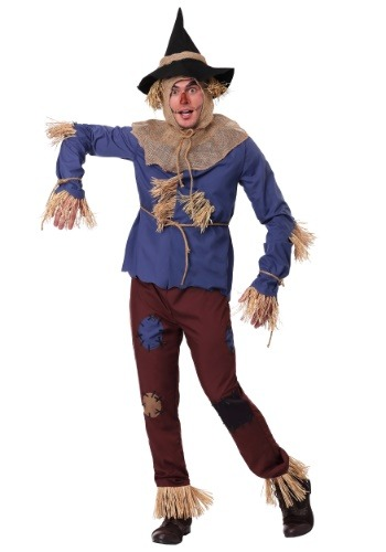 Adult Patchwork Scarecrow Plus Size Costume