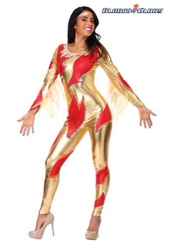 Female's Blades of Glory Fire Jumpsuit Costume Update Main