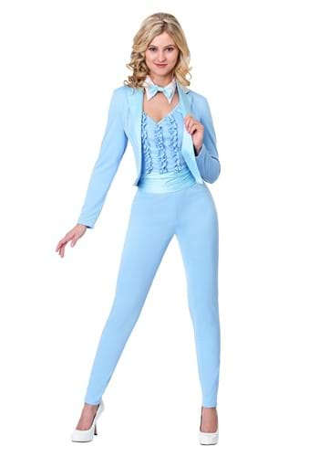 Adult Size Costume Female Blue Tuxedo