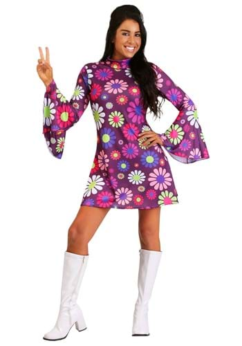 Adult Groovy Flower Power Womens Costume