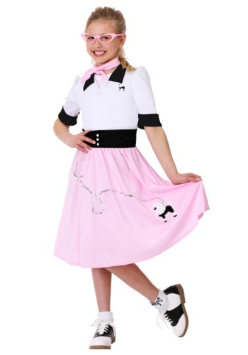 Girl's Sock Hop Sweetheart Costume