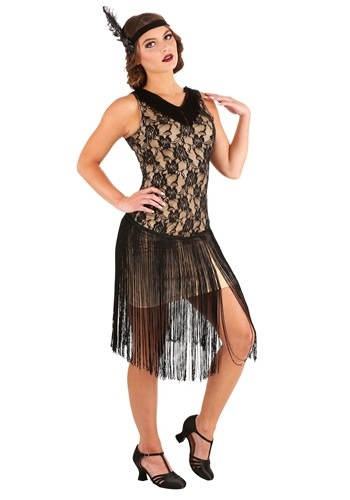 Click Here to buy Speakeasy Flapper Womens Costume from HalloweenCostumes, CDN Funds & Shipping