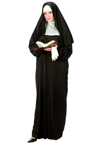 Click Here to buy Plus Size Nun Costume from HalloweenCostumes, CDN Funds & Shipping
