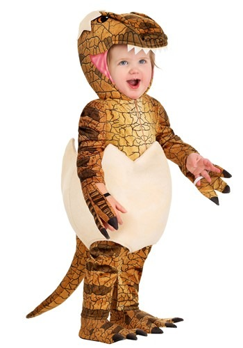 Click Here to buy Velociraptor Costume for Babies | Toddler Dinosaur Costume from HalloweenCostumes, CDN Funds & Shipping
