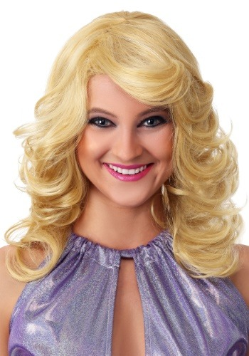 Click Here to buy Blonde Womens 1970s Feathered Wig from HalloweenCostumes, CDN Funds & Shipping