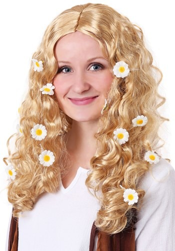 Womens Flower Power Wig