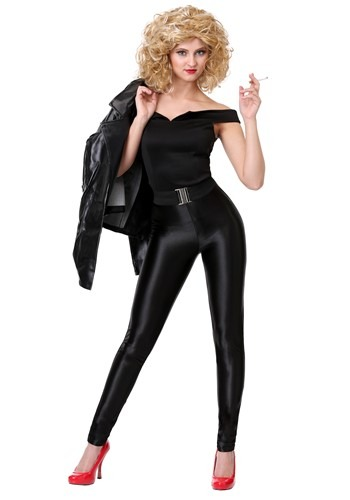 Click Here to buy Womens Deluxe Grease Bad Sandy Costume from HalloweenCostumes, CDN Funds & Shipping