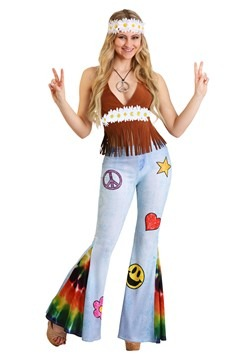 Patchwork Hippie Costume Women's