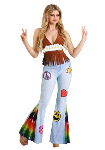 Click Here to buy Patchwork Hippie Womens Costume from HalloweenCostumes, CDN Funds & Shipping