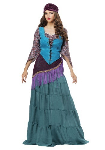Click Here to buy Fabulous Fortune Teller Gypsy Plus Size Womens Costume from HalloweenCostumes, CDN Funds & Shipping