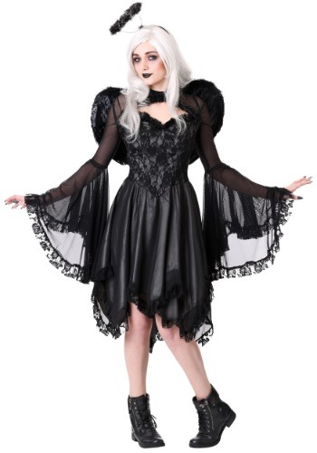 Click Here to buy Classic Dark Angel Womens Costume from HalloweenCostumes, CDN Funds & Shipping