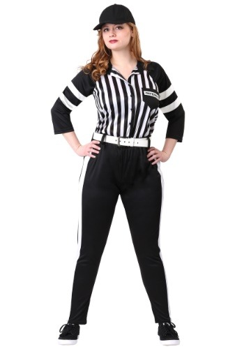 Womens Plus Size Referee Costume