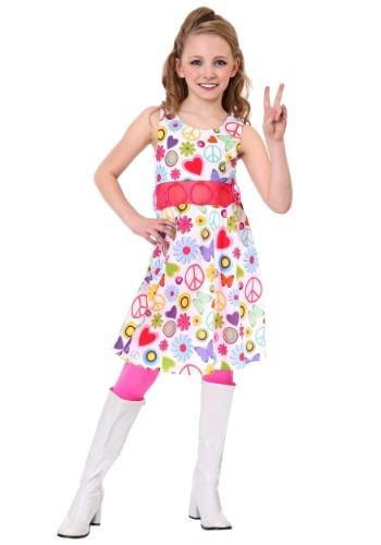 Peace & Love Hippie Costume for Girls