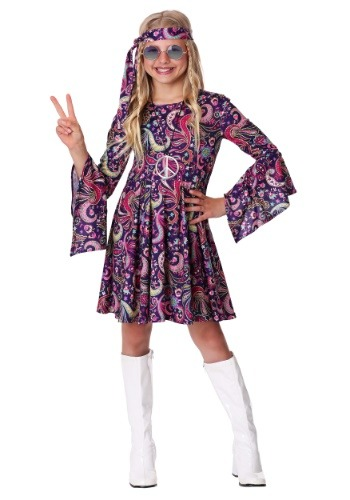Girl's Woodstock Hippie Costume
