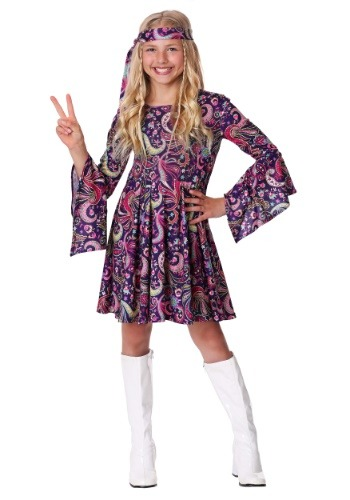 Click Here to buy Girls Woodstock Hippie Costume from HalloweenCostumes, CDN Funds & Shipping