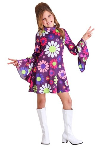 Click Here to buy Far Out Hippie Girls Costume from HalloweenCostumes, CDN Funds & Shipping