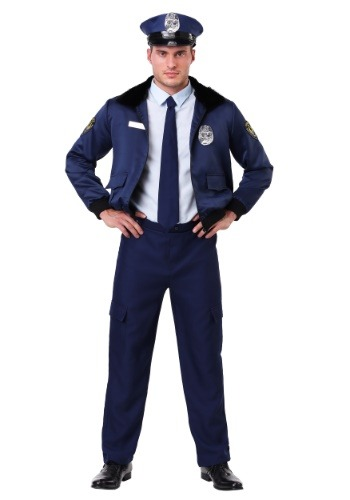 Deluxe Blue Cop Mens Costume