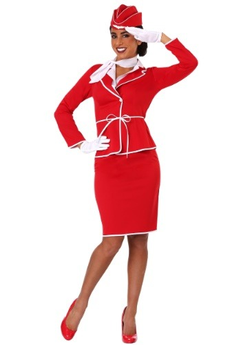 First Class Flight Attendant Costume for Women