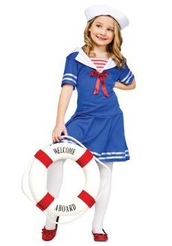 Girls Sweet Sailor Costume
