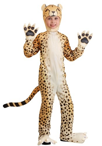 Click Here to buy Cheerful Cheetah Kids Costume from HalloweenCostumes, CDN Funds & Shipping