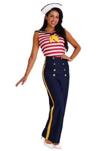 Click Here to buy Perfect Pin Up Sailor Womens Costume from HalloweenCostumes, CDN Funds & Shipping