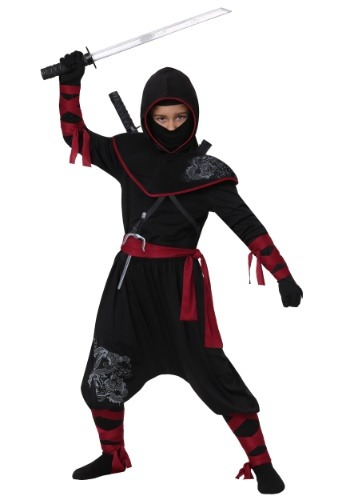 Deadly Ninja Costume For Boys