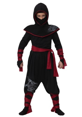 Deadly Ninja Boys Costume | Ninja Warrior Costume