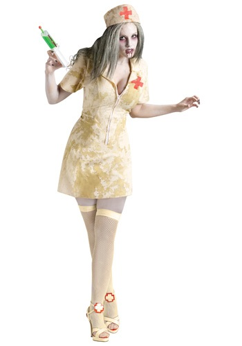 Click Here to buy Sexy Zombie Nurse Costume from HalloweenCostumes, CDN Funds & Shipping