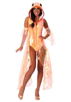 Womens Glittering Goldfish Costume