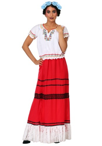 Red Frida Kahlo Womens Plus Size Costume