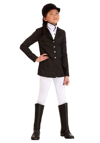 Click Here to buy Girls Equestrian Costume Jockey Kids from HalloweenCostumes, CDN Funds & Shipping