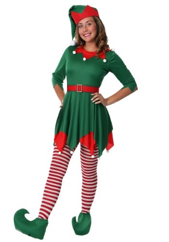 Womens Plus Size Santas Helper Costume