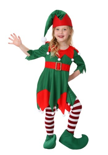 Click Here to buy Toddler Girls Santas Helper Costume from HalloweenCostumes, CDN Funds & Shipping