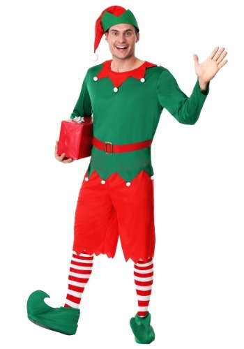 Men's Plus Size Santa's Helper Costume