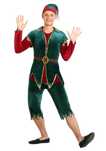 Click Here to buy Deluxe Mens Holiday Elf Costume from HalloweenCostumes, CDN Funds & Shipping