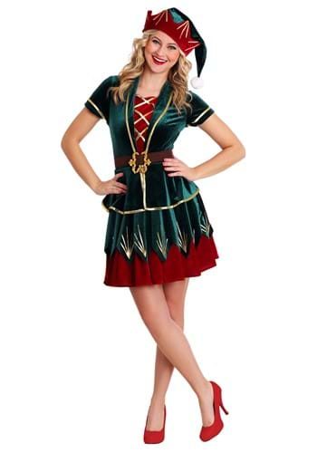 Click Here to buy Womens Deluxe Elf Costume from HalloweenCostumes, CDN Funds & Shipping